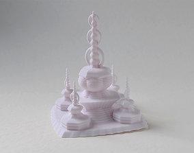 3D print model sculptures Pagoda