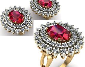 rings 3D WOMAN SET RING AND EARRINGS