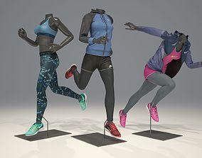 3D model Woman mannequin Nike pack 4