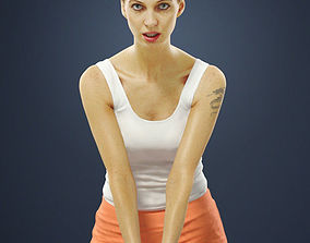 Andrea Attractive Young Sports Woman playing 3D asset 1