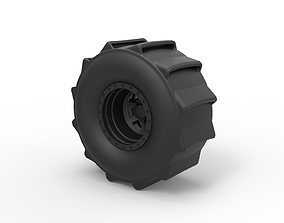 3D printable model Diecast Wheel for mud drag racing