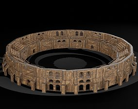 3D model AAA Medieval Colosseum Wooden Arena 01 R