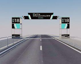 Finish line - Banner commercial 3D asset