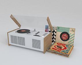 3D model Braun SK55 Record Player
