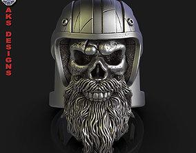 Biker skull 5 Ring jewelry 3D print model