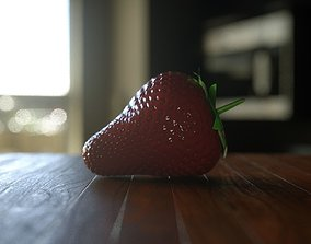 High Quality Strawberry 3D model