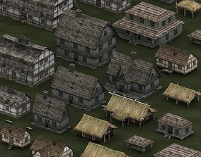 game-ready 3DRT - Medieval Houses Pack