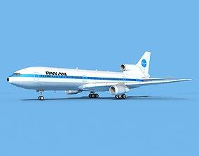 3D model rigged Lockheed L-1011 Pan American
