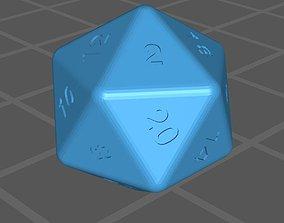Dice 20 faces 3D model