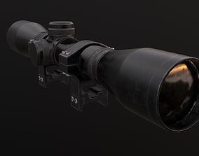 PO4x34 sniper scope 3D model