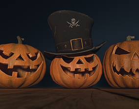 Halloween Pumpkins creature 3D model realtime