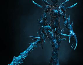 Female Ice Elemental 3D asset