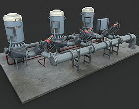 Machinery device Pump station 3D