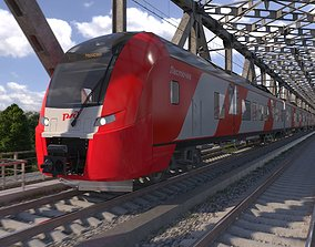 3D model Electric Train Siemens Desiro Rus Lastochka