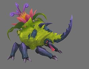 3D model concept creature of Beatles Fusion with plant