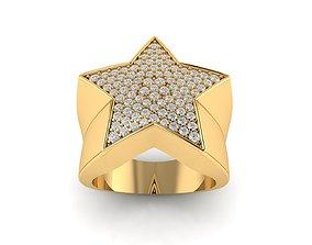 Star diamond ring v3 3D printable model