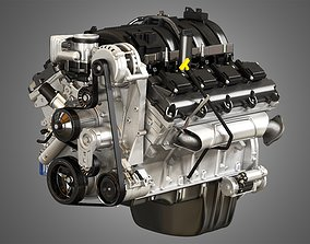 1500 Ram Engine - V8 Pickup Truck Engine 3D