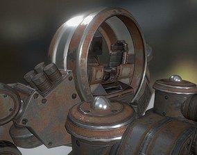 Futuristic Terrain Walker Rusty Version Rigged 3D model 1