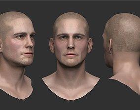 Male head1 3D model