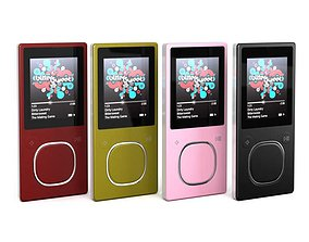 Modern Slimline Mp3 Player 3D model