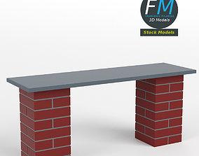 3D model Brick bench