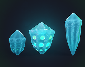 water minerals 3pcs 3D model