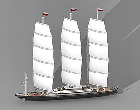 boat Sailing Yacht 3D model