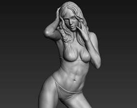 Posed Realistic Woman 01 3D printable model
