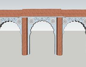animated indian jodhpuri stone arch 3d moda