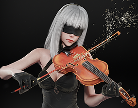 3D model animated 10E - The Violinist