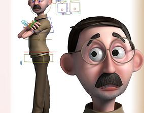 3D Cartoon Teacher Rigged rigged