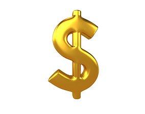 Dollar Symbol v2 005 3D asset