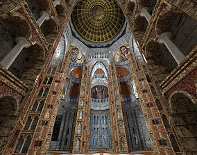 3D Byzantine Cathedral - Exterior and Interior