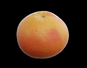 3D asset low-poly Grapefruit