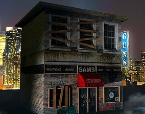 3D Soho Gunshop with 4K Texture Map
