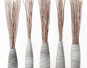 Vase concrete branch decor n7 3D model