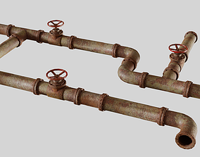 3D asset realtime Modular Industrial Pipes