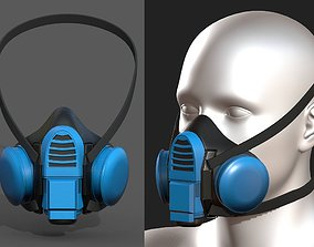 Gas mask plastic protection isolated plastic 3D asset