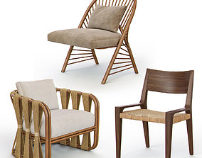 Rattan and Wicker Chairs I 3D model