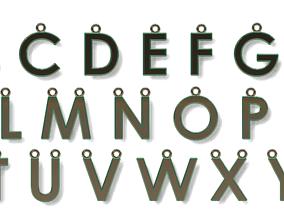 3D printable model Dainty Letter Pendant