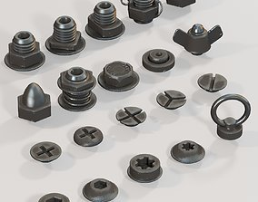 industrial 3D Bolts and nuts FREE