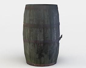 Damaged barrel 3D asset