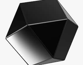 3D model Matty Mirrored Polygon Side Table