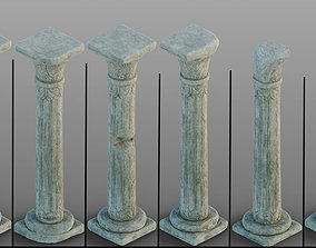 Gothic window pillars 3D model