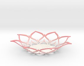3D printable model Lotus Tealight Holder