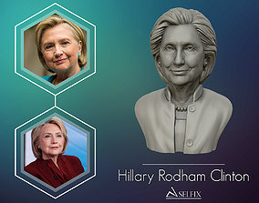 Hillary Clinton 3D printable model art