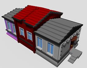 3D asset Voxel House 03