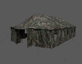 3D asset Military Camo Tent