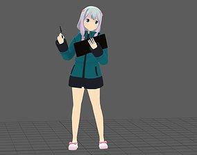 Eromanga Sensei Sagiri 3D model rigged
