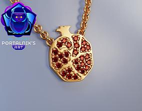 3D printable model Gold pendant - - Your sweet garnet